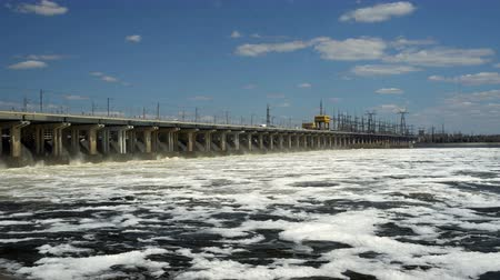 와트 : Reset of water at hydroelectric power station on the river