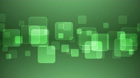 átfedés : Abstract Overlapping Rectangular Shapes on Green Background. Animated Seamless Looping Motion Design. Stock mozgókép