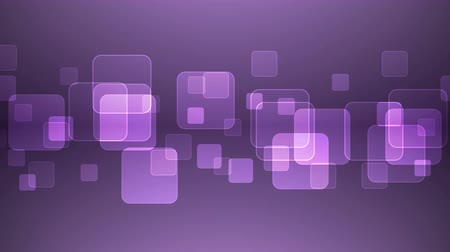 átfedés : Abstract Overlapping Rectangular Shapes on Purple Background. Animated Seamless Looping Motion Design.