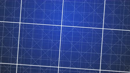 blueprint : Blue Grids Background. Looping motion design.