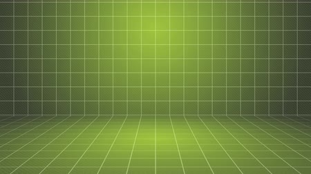 сетка : Green grid stage. Computer generated seamless loop abstract motion background. Стоковые видеозаписи