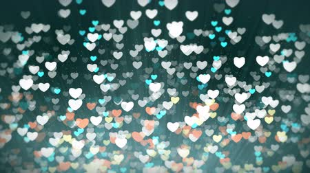 valentin nap : Valentines Day and shiny hearts light background. Abstract looping motion design.