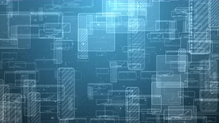 blueprint : Abstract digital technology squares animation background. Computer generated seamless loop motion video. Stock Footage