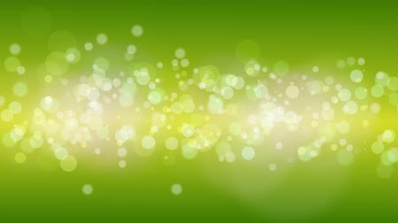 Green Particles Bokeh Background.