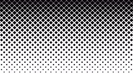 Black squares pattern on white. Computer generated seamless loop abstract halftone motion background.