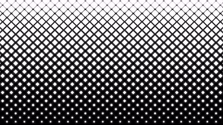 halftone : White squares pattern on black. Computer generated seamless loop abstract halftone motion background. Stock Footage