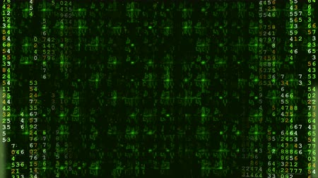 Green Hi-Tech Digital Futuristic Background. Computer generated seamless loop. Vídeos