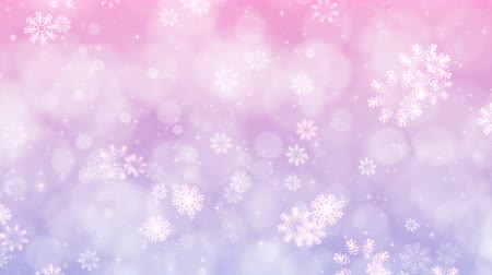Abstract Christmas background with snowflakes and sparkles. Computer generated seamless loop animation. Vídeos