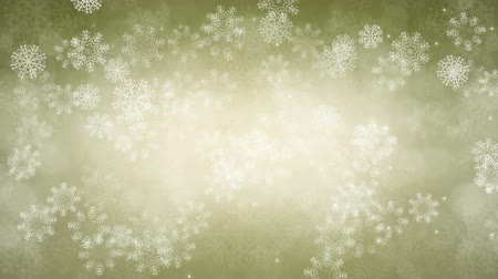 Snowflakes and sparkles are slowly flying. Computer generated seamless loop abstract animation. Vídeos