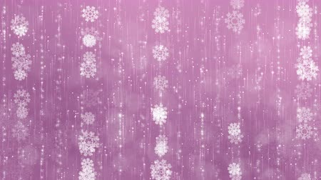 Snowflakes background. The circles are slowly flying. Computer generated seamless loop abstract animation.