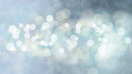 Abstract holiday glow bokeh background. Seamless loop digital animation.