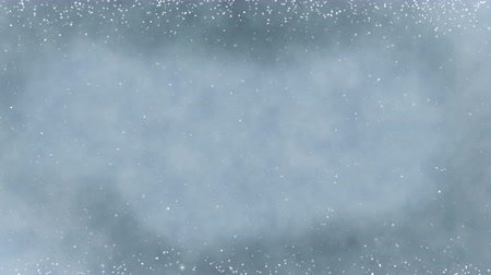 Winter wonderland abstract background. Seamless loop new year theme animation. Vídeos