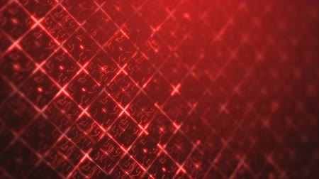 Red abstract digital techno circuit. Seamless loop animation of technology background. Vídeos