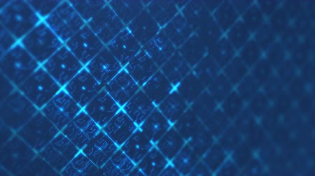 Blue abstract digital techno circuit. Seamless loop animation of technology background.