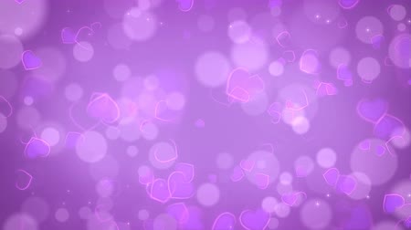Purple abstract hearts background. Seamless loop Valentines Day holiday animation. Vídeos