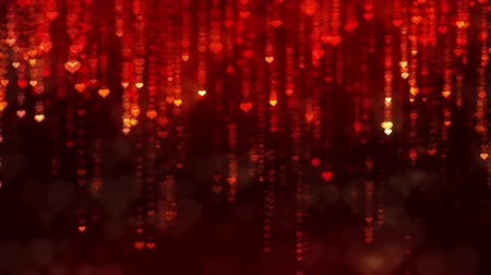 Mothers Day motion background with falling down glittering hearts. Seamless loop Valentines Day holiday animation.
