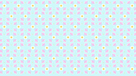Seamless loop flower kaleidoscope pattern. Abstract multicolored motion geometric background. Dostupné videozáznamy