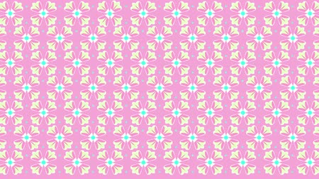 Seamless loop flower kaleidoscope pattern. Abstract multicolored motion geometric background. Vídeos