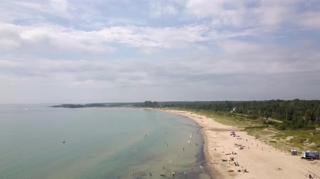 kano : Sauble beach provincial park. Aerial view of the lake Huron