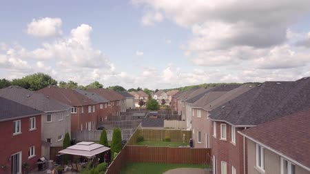 felosztás : Aerial view of the residential area of the city 4k