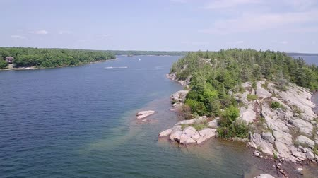 granit : killbear provincial park. Aerial view of the Georgian bay.