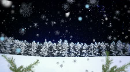 С Рождеством : Christmas background for rear projection