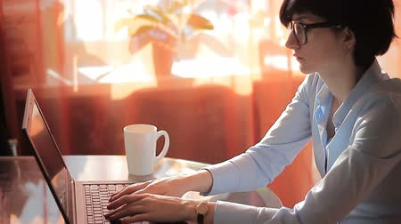 boss : Ambition Businesswoman in office with laptop