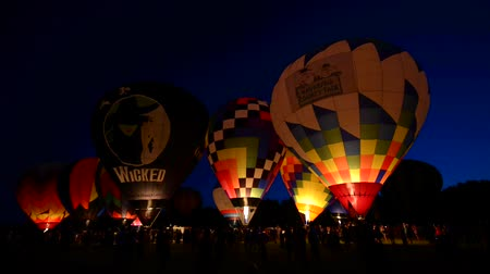 from air : Inflating a hot air balloons for the night glow Waterford Hot Air Balloon