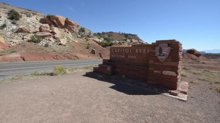 southwest : Sign at the entrance of the Capitol Reef National Park, Utah, Southwestern USA