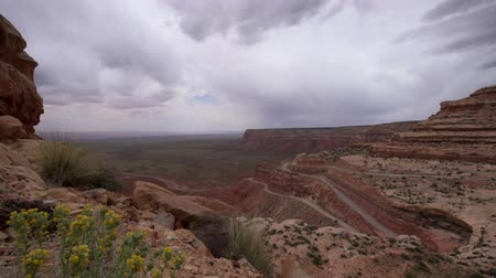 overlooks : Trail of the Ancients, a National Scenic Byway steep switchbacks, Moki Dugway