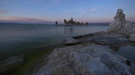 mono lake : Mono Lake Sunset South Tufa Famous California Landscape Stock Footage