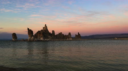 mono lake : South Tufa Mono Lake at Sunset California USA Stock Footage