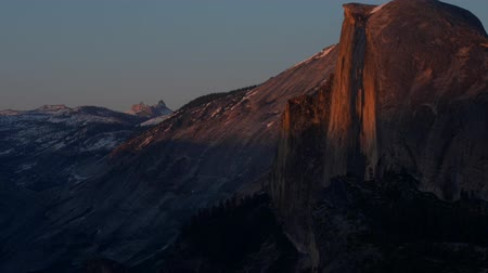 glacier point : Half Dome at Sunset Glacier Point Yosemite National Park California slow pan