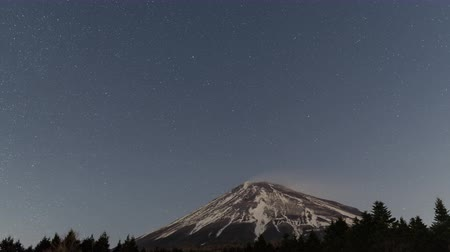 trave : Stars Turning Around the North Pole Above Mt. Fuji