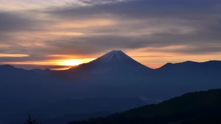 fujiyama : Sunrise over Mt. Fuji in the Morning