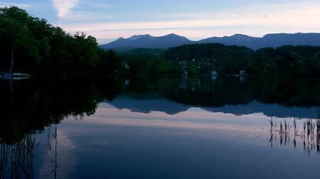 waters : Mt. Yatsugadae Reflected in Lake Matsubara at Sunset