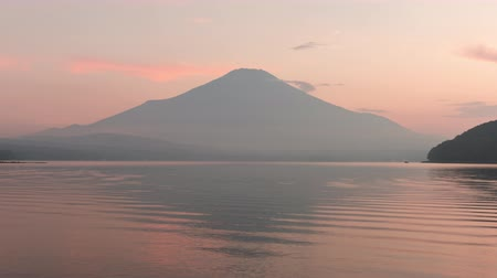 fuji : Mt. Fuji over Lake Yamanaka at Sunset (zoom out)