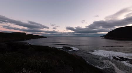 tasmania : Maingon Bay Lookout at Sunset (time lapse)