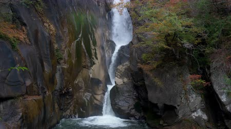 tilt down : Senga Falls in the Shosenkyo Gorge in Kofu City, Yamanashi Prefecture, Japan (down tilt)
