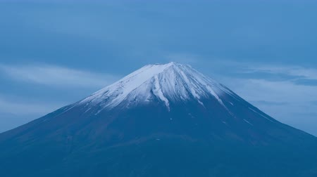 snowcapped : Mt. Fuji Becoming Pink in the Morning (in time lapsezoom)