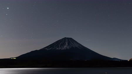 five star : Mt. Fuji over Lake Shoji under the Starry Sky (time lapse)
