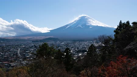 snowcapped : Mt. Fuji over Fujiyoshida CIty in Autumn (zoom in)