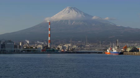 snowcapped : Mt. Fuji over the Tagonoura Port in Fuji City, Shizuoka Prefecture