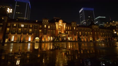charco : Marunouchi Exit of Tokyo Station at Night