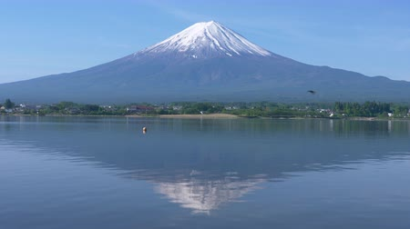 nyel : Mt. + Fuji + Reflected + in + Lake + Kawaguchi + in + Spring +% 28slow + motion% 29