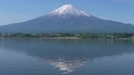 lakeshore : Mt. + Fuji + Reflected + in + Lake + Kawaguchi +% 28zoom + in% 29