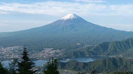 lookout point : Mt. Fuji over Lake Kawaguchi Captured from Shindo Pass (time lapsezoom out)