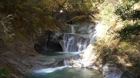 tiered : Scenic Waterfall in Slow Motion (Five-Tiered Waterfall in Nishizawa Gorge)