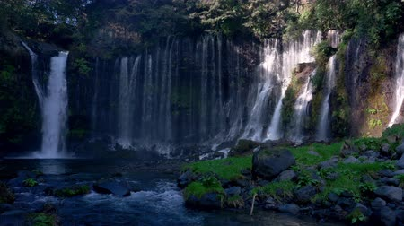 fuji : Shiraito Falls in Japan (pan) Stock Footage