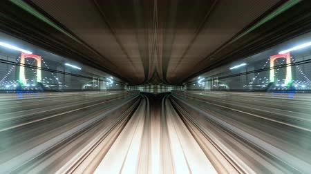 célere : Futuristic Hyper Lapse of Automatic Train (POV Time Lapseabstract reflection)
